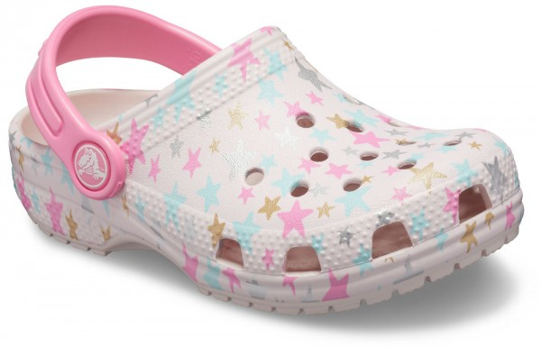 Classic Printed Clog Kids Barely Pink Croslite