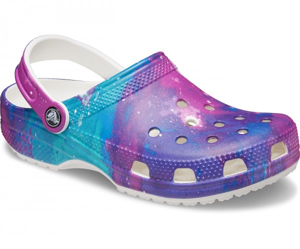 Classic Out of This World Clog White/Purple Croslite