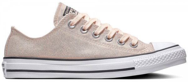 Chuck Taylor All Star Ox Washed Coral / Schwarz / Weiß Textil