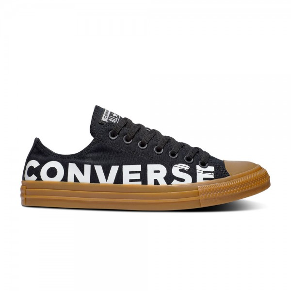 Chuck Taylor All Star Wordmark and Camo Ox Schwarz / Schwarz / Gum Honey Segeltuch
