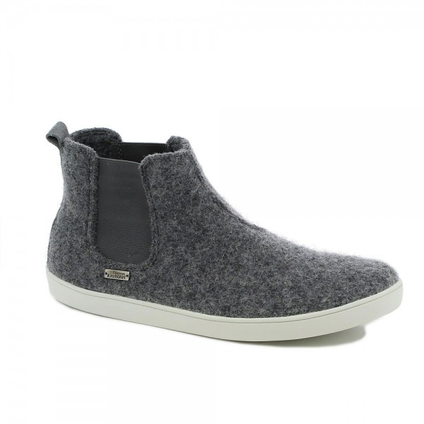 Chelsea Boot uni Grau Wolle