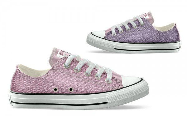 Chuck Taylor All Star Kids - Ox - Cherry Blossom / Washed Lila Segeltuch
