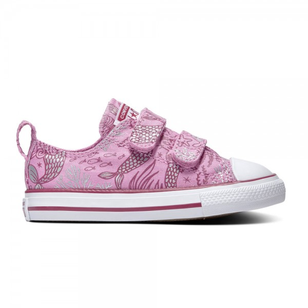 Chuck Taylor All Star 2v Kids - Ox - Peony Pink / Rose Maroon / Weiß Segeltuch