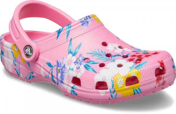 Classic Printed Clog Tropical Floral / Pink Lemonade Croslite