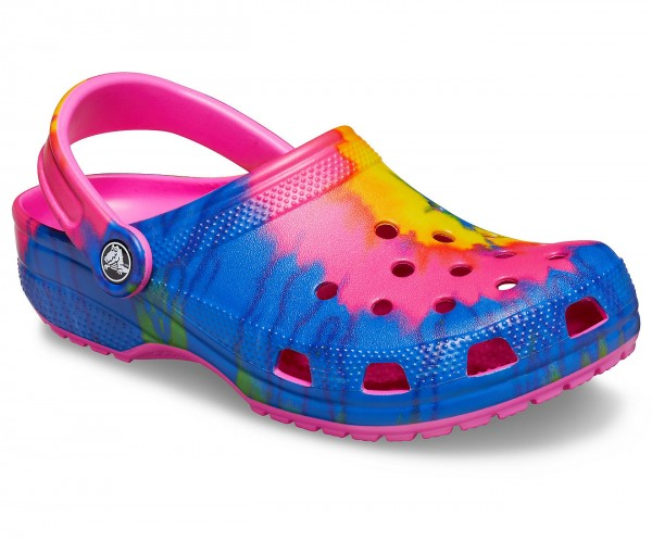 Classic Tie Dye Graphic Clog Electric Pink/Multi Croslite