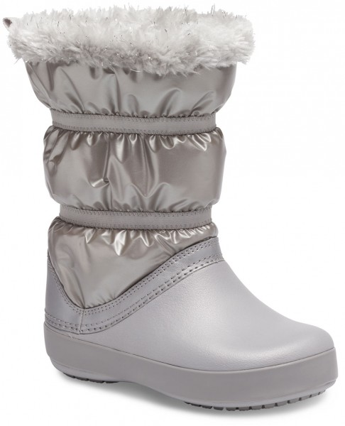 Crocband Lodgepoint Metallic Boot Kids Silber Metallic Croslite