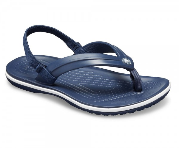 Crocband Strap Flip Kids Navy Croslite