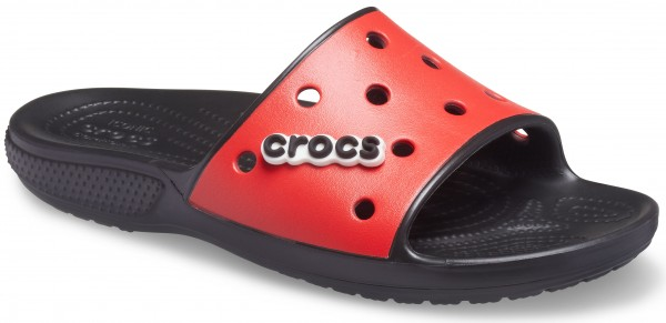 Classic Crocs Colorblock Slide Black/Flame Croslite