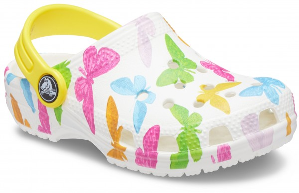 Classic Vacay Vibes Clog Kids Butterfly / Weiß Croslite