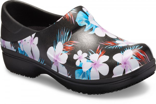 Neria Pro II Graphic Clog Tropical Flora Croslite