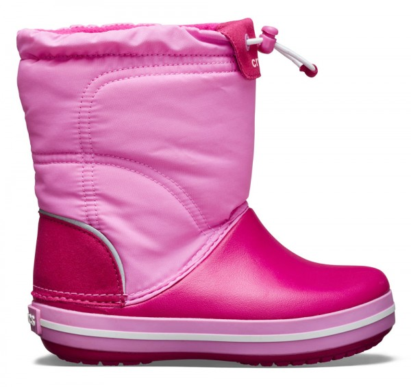Crocband LodgePoint Boot Kids Candy Pink/Party Pink Croslite