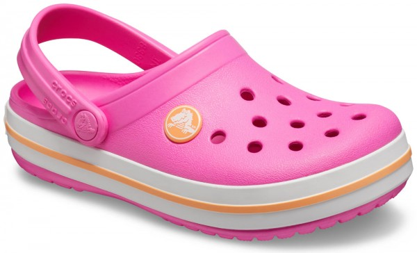 Crocband Clog Kids Electric Pink / Cantaloupe Croslite