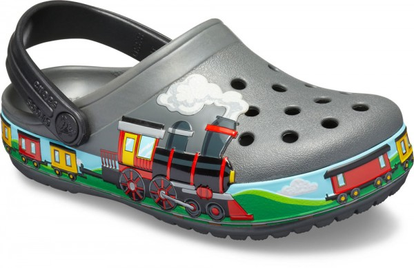 Funlab Train Band Clog Kids Slate Grau Croslite