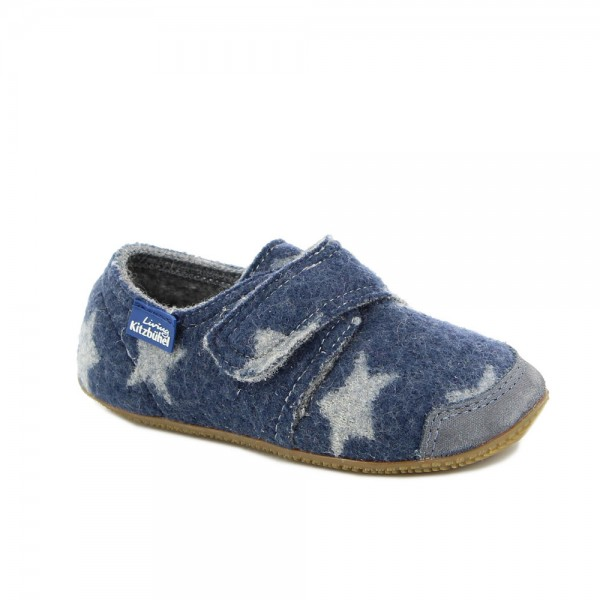 Klettschuh Sterne Jeans Wolle