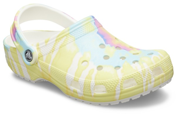 Classic Tie Dye Graphic Clog White/Multi Croslite