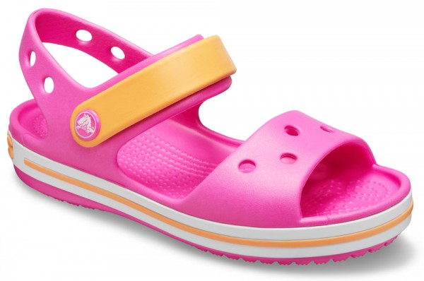 Crocband Sandal Kids Electric Pink / Cantaloupe Croslite