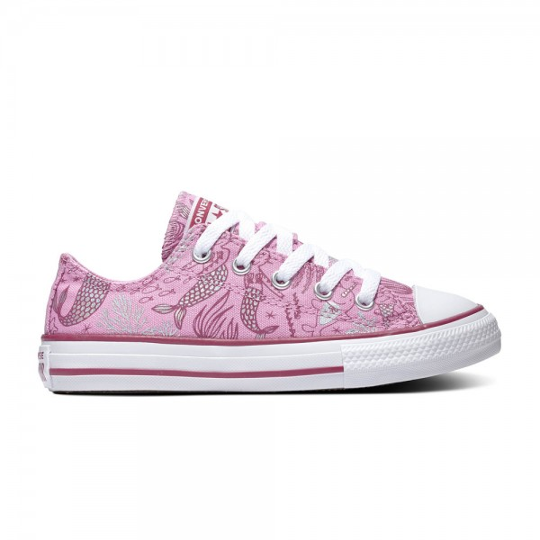 Chuck Taylor All Star Kids - Ox - Peony Pink / Rose Maroon / Weiß Segeltuch