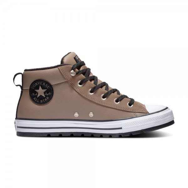 Chuck Taylor All Star Street Leather Mid - Mason Toupe / Weiß / Schwarz Leder