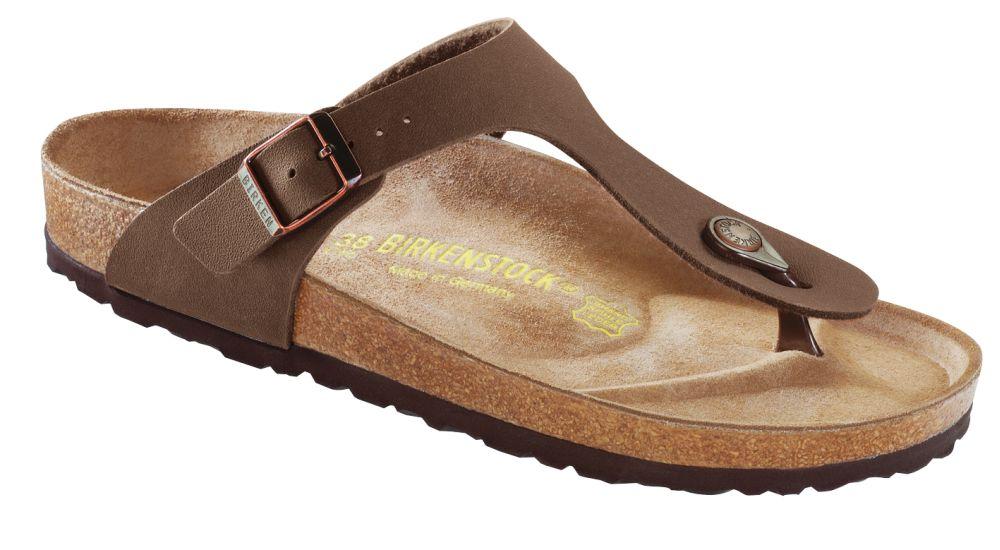 Birkenstock Gizeh Damen Sandalen Pantoletten 043753 Schmal Braun Mocca Neu