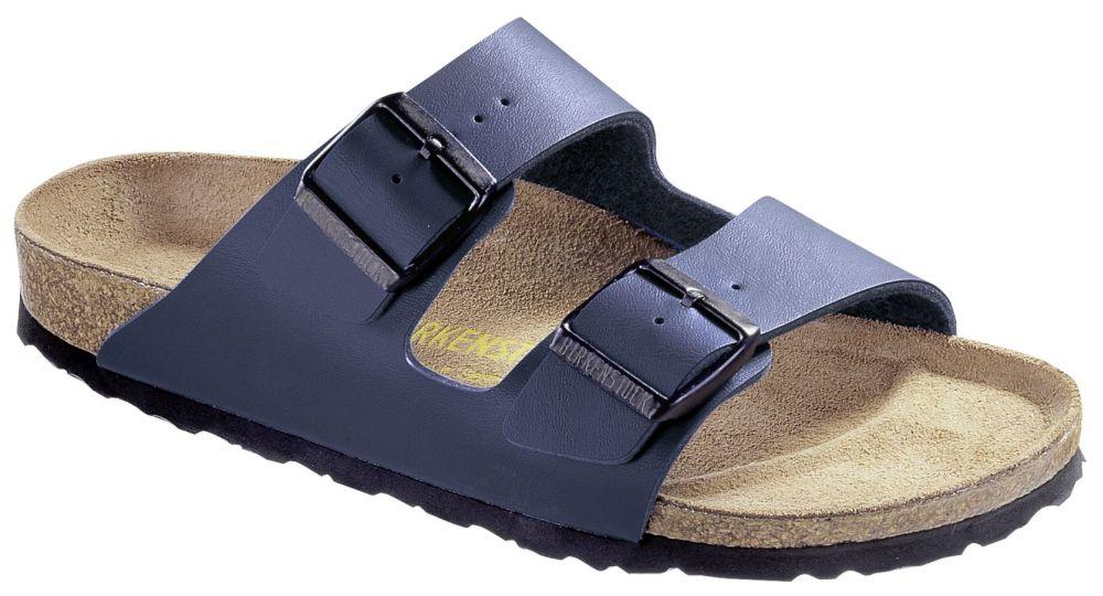 Birkenstock Arizona Pantofole Sandali Clogs Birko Flor 051751 Blu Nuovo
