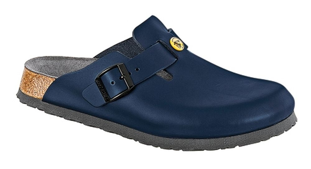 Birkenstock Boston normal Blau Antistatik Naturleder, Weite: normal Boston Naturleder 966e72