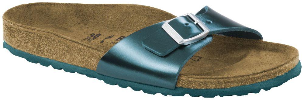 Birkenstock Grün Madrid Metallic Grün Birkenstock Leder, Weite: schmal Leder 5094de