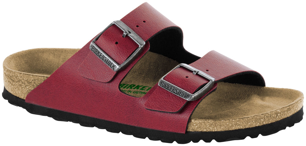 Birkenstock Vegan Arizona Pull Up Bordeaux Vegan Birkenstock Birko-Flor, Weite: normal Birko-Flor ccbf59