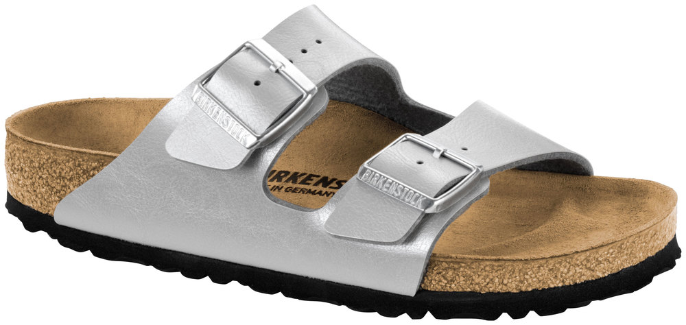Birkenstock arizona graceful plata Birko-flor graceful, ancho: normal Birko-FL
