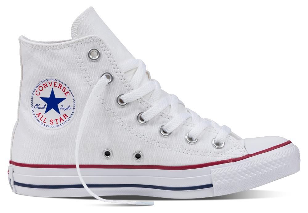 Converse Chuck Taylor All Star Hi normal Optical Weiß Segeltuch, Weite: normal Hi Segeltu a98176