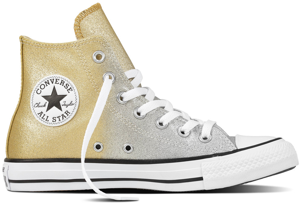 Converse Chuck Taylor Gold All Star Hi Light Gold Taylor / Aged Gold / Weiß Synthetik, Weit 34975f