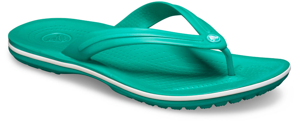 crocs Zehensteg Crocband Flip Weiß Croslite Normal Unisex