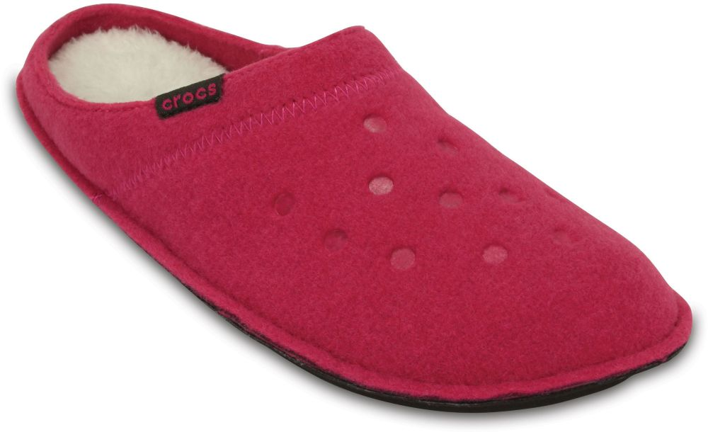 Crocs Classic Slipper Normal Weite Textil Textil Candy Oatmeal Pink PzPq4