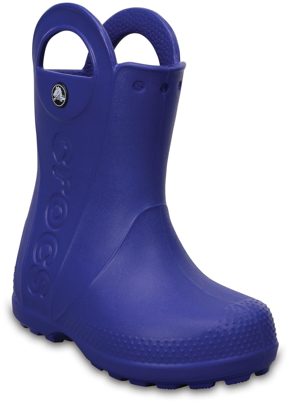 crocs Handle It Rain Boot Kids Cerulean Blau Croslite, Weite: normal Croslite